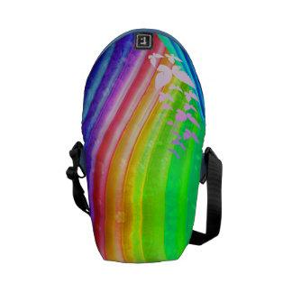 Butterflies Over Rainbow Design Courier Bag