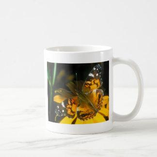 butterflies painted lady classic white coffee mug