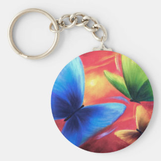 Butterflies Party Art Painting - Multi Keychain