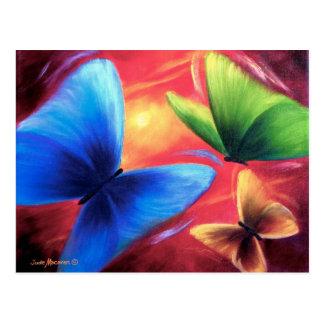 Butterflies Party Art Painting - Multi Postcard