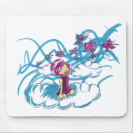 Butterflies passing by mousepad
