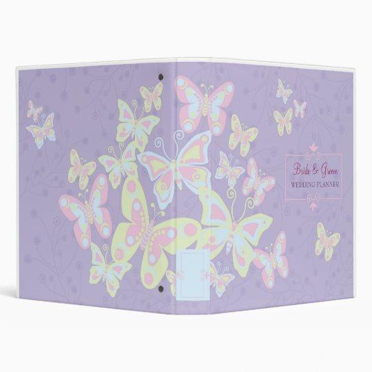 Butterflies (Pastel Burst) Wedding Planner 3 Ring Binder