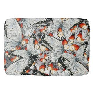 Butterflies pattern bath mat