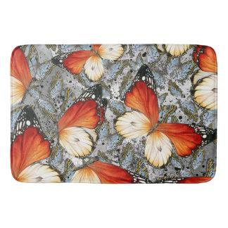 Butterflies pattern bathroom mat