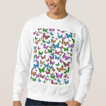 Butterflies Pattern Design Sweatshirt