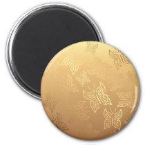 Butterflies Pattern Gold Magnet