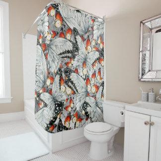 Butterflies pattern shower curtain