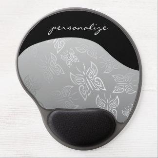 Butterflies Pattern Silver Gel Mouse Pad
