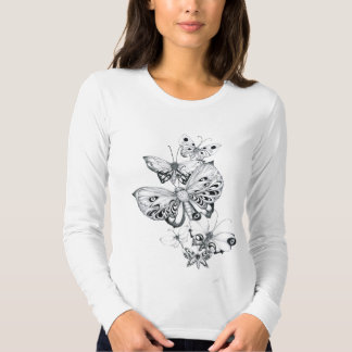 Butterflies Pencil Tee Shirt