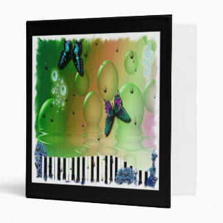 Butterflies Piano Keys Binder