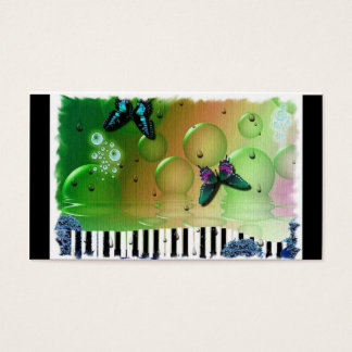 Butterflies Piano Keys Business Card