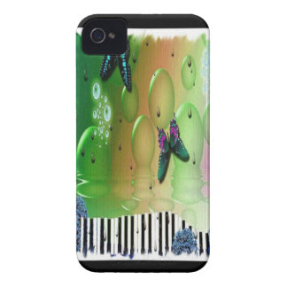 Butterflies Piano Keys iPhone 4 Case