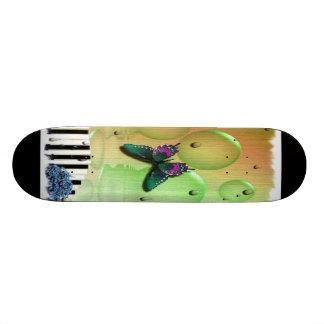 Butterflies Piano Keys Skateboard Deck