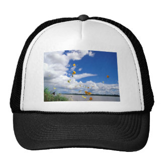 butterflies pierides amazon river trucker hat