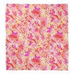Butterflies, pink, peach, coral bandana