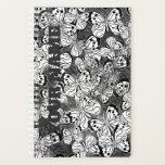 "Butterflies Planner<br><div class=""desc"">Line drawing of butterflies in black and white.</div>"