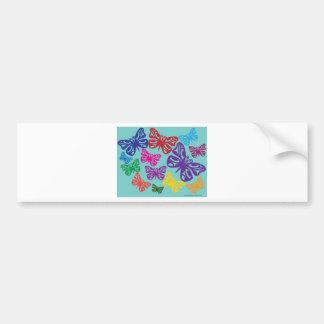 Butterflies png colorido etiqueta de parachoque