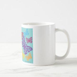Butterflies.png colorido taza clásica