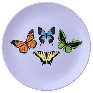 Butterflies Porcelain Plate