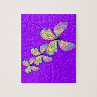 Butterflies & Purple Love Jigsaw Puzzle
