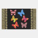 Butterflies Rectangle Stickers