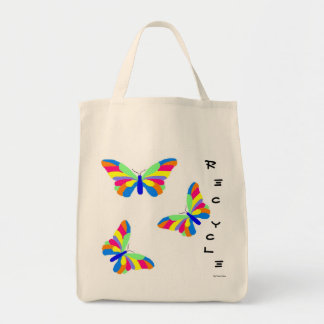 Butterflies Recycle Grocery Bag Grocery Tote Bag
