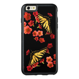 Butterflies Red Flower OtterBox iPhone 6 Plus Case
