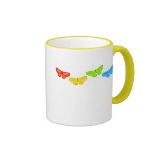 butterflies ringer coffee mug