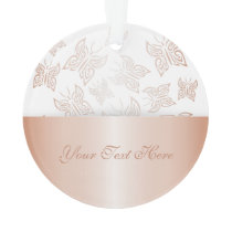 Butterflies Rose Gold Personalize Ornament
