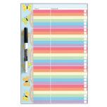 Butterflies School Planner Dry-Erase Whiteboards