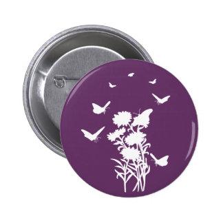 Butterflies Silhouette Button