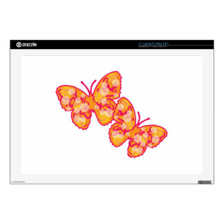 """Butterflies Decal For 17"""" Laptop"""