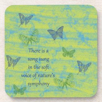 Butterflies Song Beverage Coaster