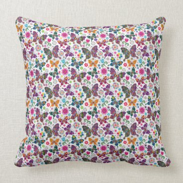 Professional Business Butterflies Spring Floral Pillow