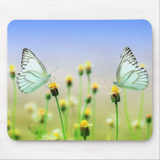Butterflies Spring Nature Scenery Mouse Pad
