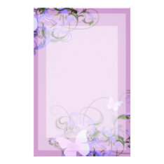 Butterflies Stationery at Zazzle