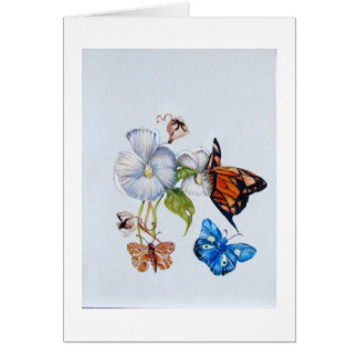 butterflies stationery note card