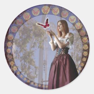 Butterflies (Stickers) Classic Round Sticker