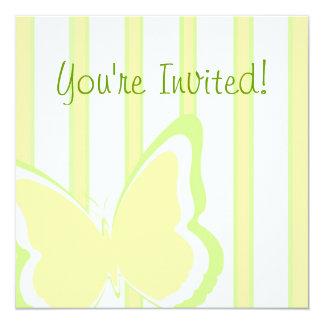 Butterflies & Stripes Card