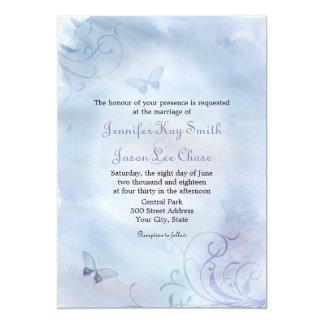 Butterflies & Swirls Wedding Invitations