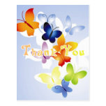 Butterflies Thank You Note Postcards