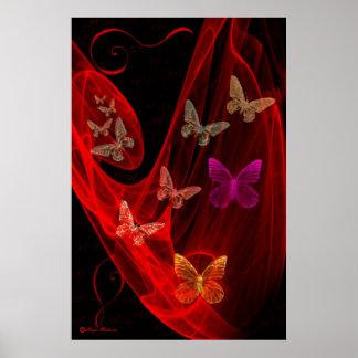 Butterflies trap poster