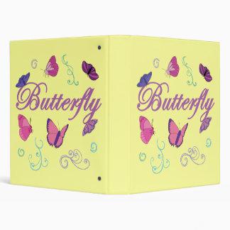 Butterflies Vinyl Binder