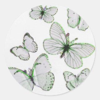 butterflies wedding stickers