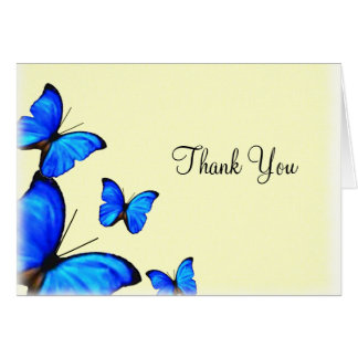 Blue Butterfly Thank You Note Cards | Zazzle