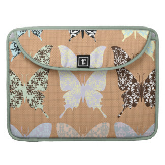 butterflies,whimsical,damasks,trendy,girly,pattern MacBook pro sleeves