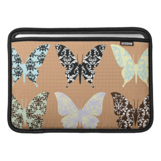 butterflies,whimsical,damasks,trendy,girly,pattern sleeve for MacBook air