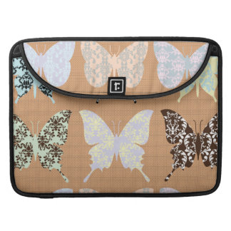 butterflies,whimsical,damasks,trendy,girly,pattern sleeves for MacBook pro