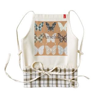 butterflies,whimsical,damasks,trendy,girly,pattern zazzle HEART apron