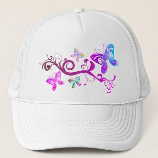 butterflies wings spring pink purple wing pattern trucker hat